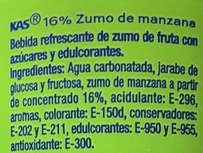 Kas Apple Soda - Ingredientes