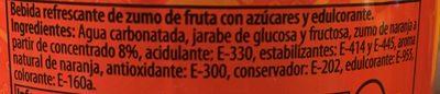 Refresco de naranja - Ingredientes
