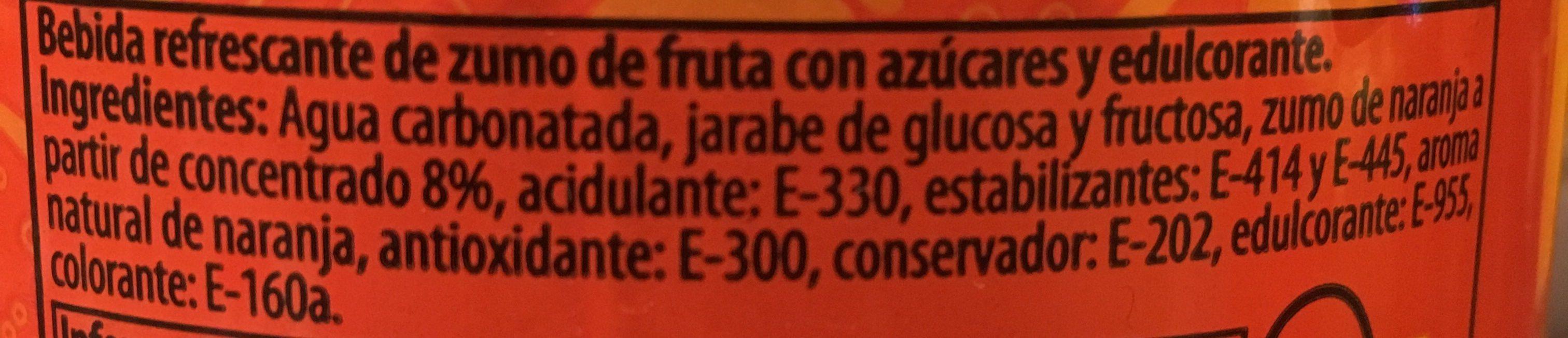 KAS Naranja - Ingredientes - es