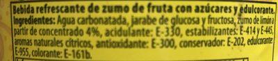 Refresco de limón - Ingredientes