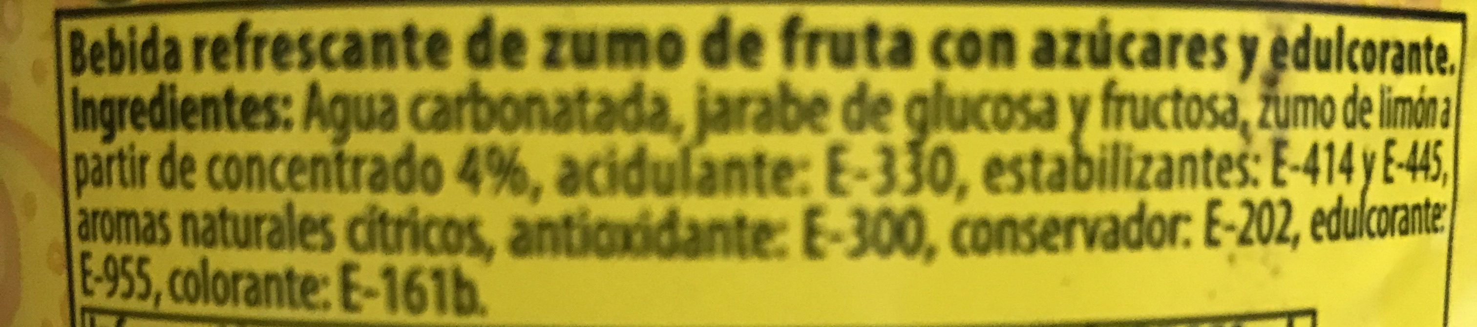 Refresco de limón - Ingredientes - es