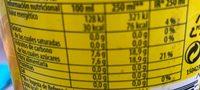 Refresco de limón - Información nutricional