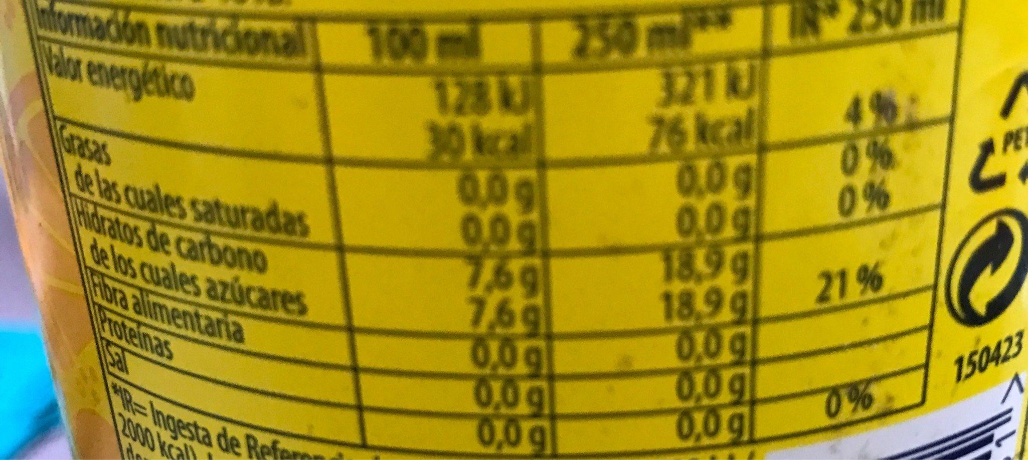 Refresco de limón - Información nutricional - es