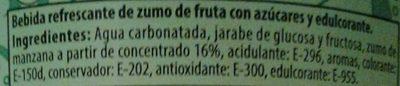 Kas Manzana - Ingredientes