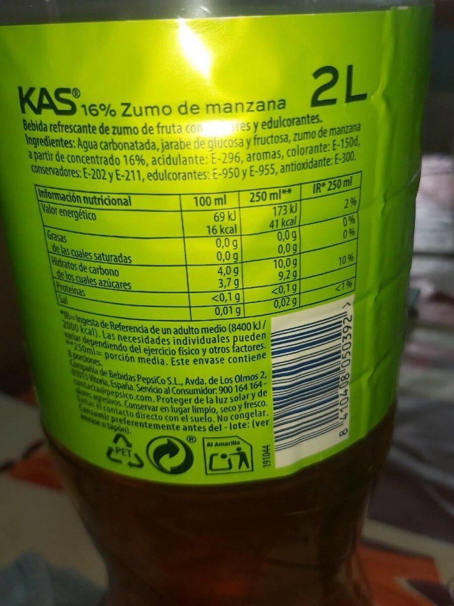Kas manzana - Información nutricional - es