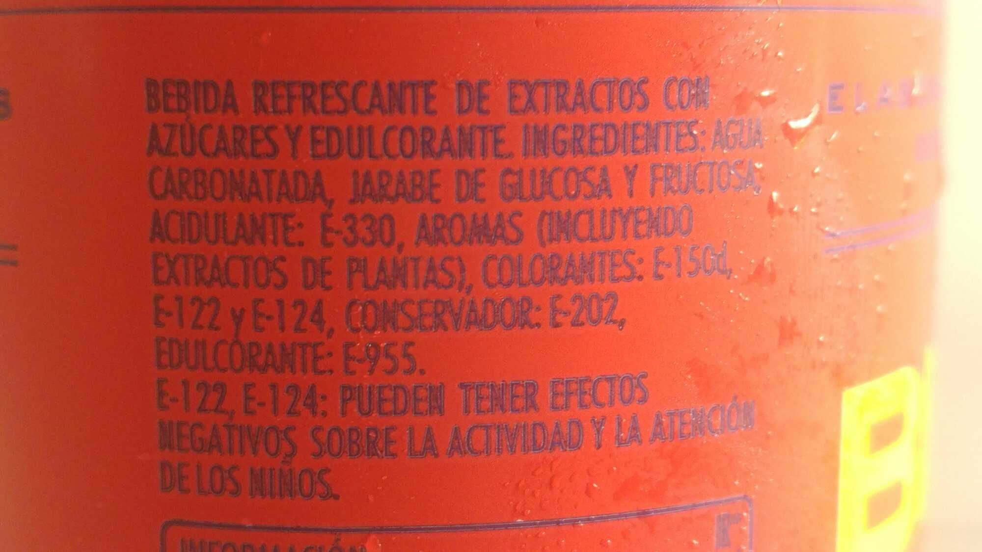 Bitter Kas - Ingredientes - es