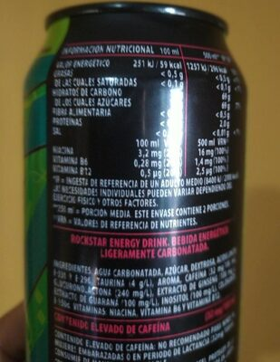 Rockstar supersours energy manzana verde - Voedingswaarden