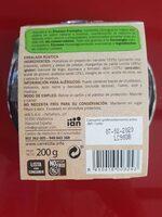 Ensalada Rústica - Ingrediënten - es