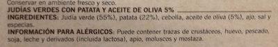 Judías verdes con patatas - Ingredientes - es
