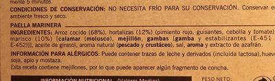 Paella marinera sin gluten - Ingredients - es