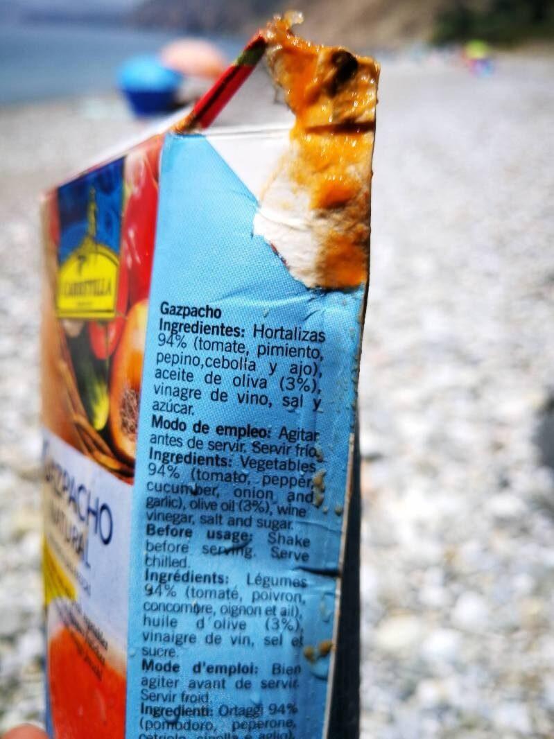 Gazpacho Natural - Ingredientes - es