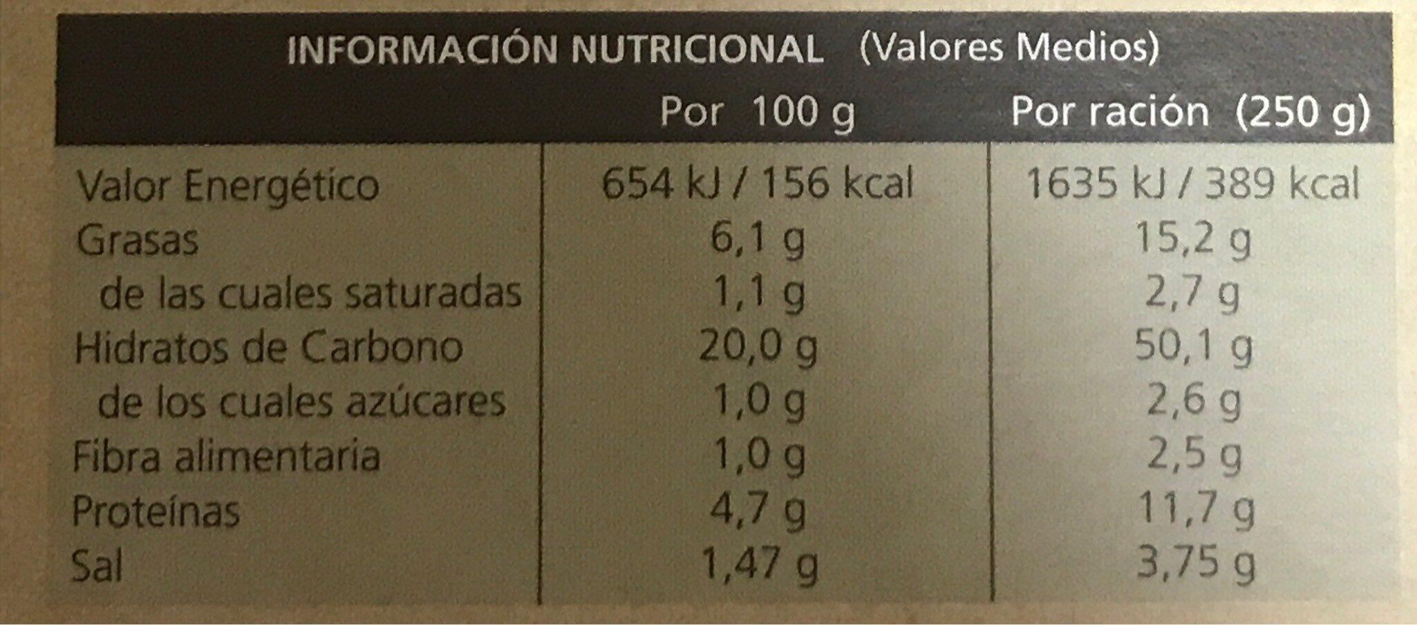 Arroz tres delicias sin gluten - Voedingswaarden - es