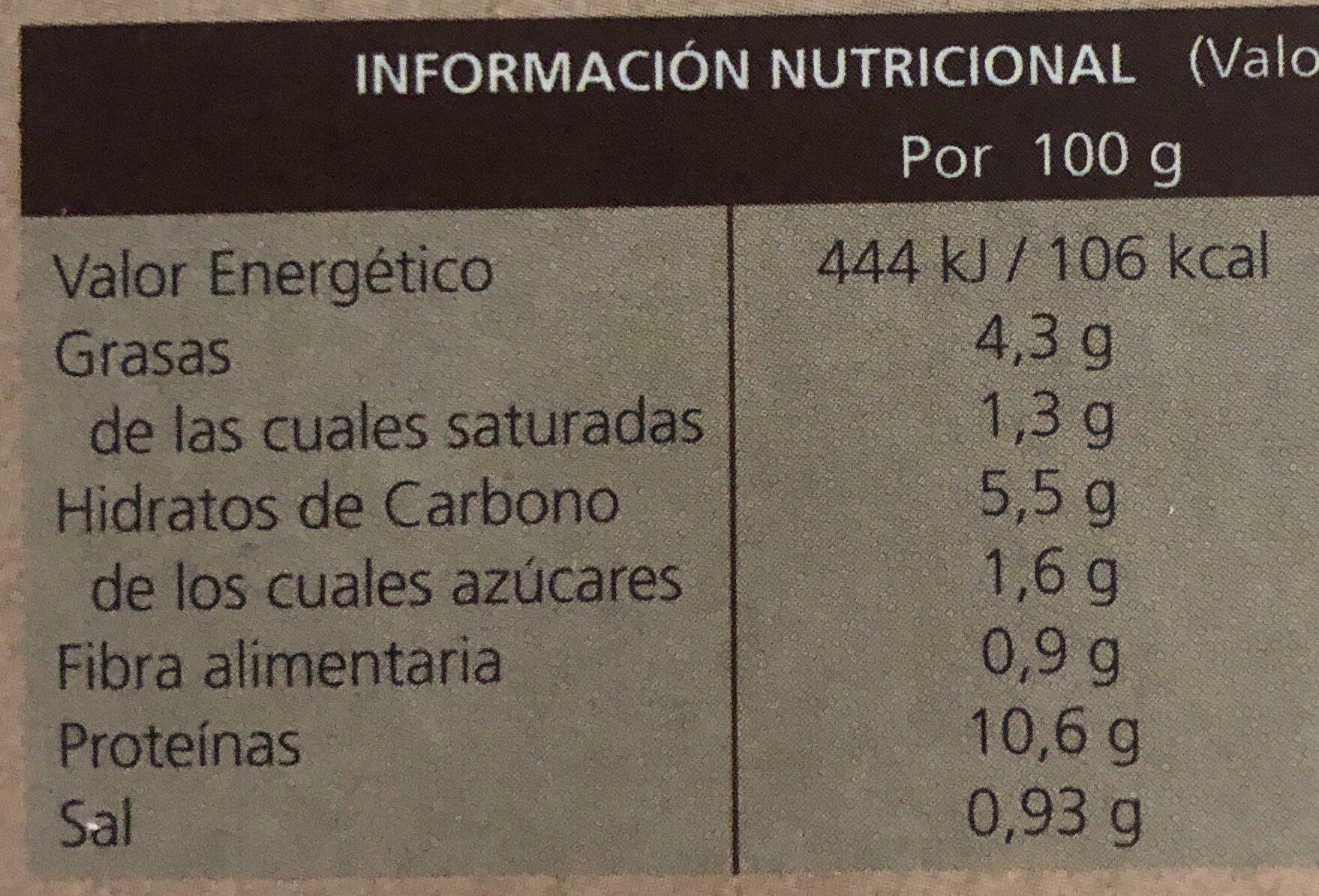 Ternera a la jardinera - Nutrition facts - es