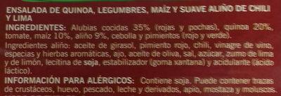 Ensalada de quinoa - Ingredients - es