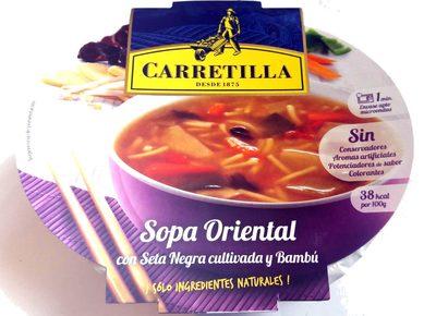 Sopa Oriental con setas y bambu Carretilla - Producte