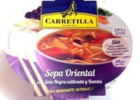 Sopa Oriental con setas y bambu Carretilla - Ingredients