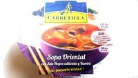Sopa Oriental con setas y bambu Carretilla - Informació nutricional