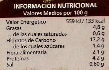 Quinoa Real Blanca - Informations nutritionnelles - es