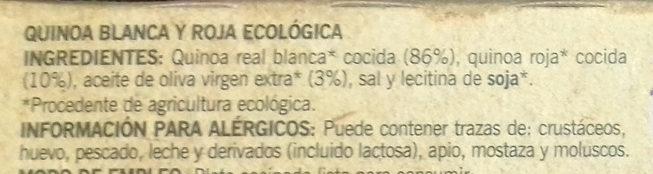 Quinoa Blanca y Roja - Ingredientes - es