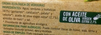 Crema ecológica de verduras - Ingrédients - es