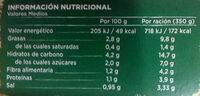 Crema ecológica de verduras - Informations nutritionnelles - es