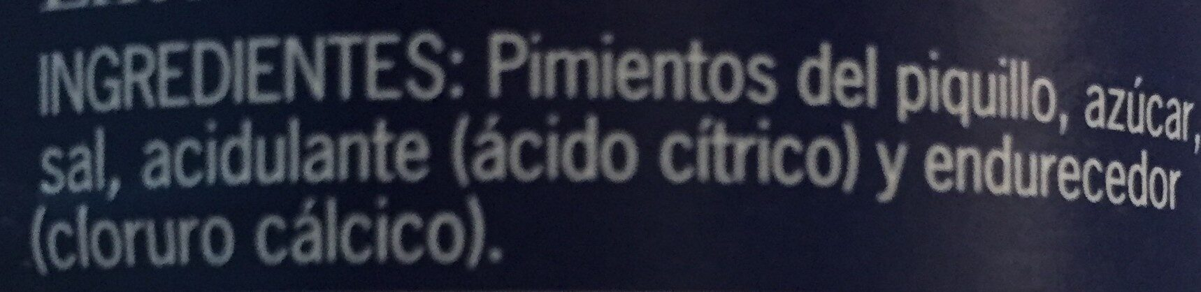 Pimientos del piquillo enteros - Ingrediënten