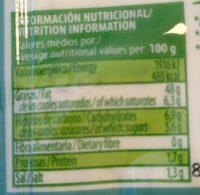 Salsa yogur - Información nutricional - es