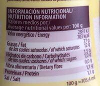 Ajonesa - Informació nutricional - es
