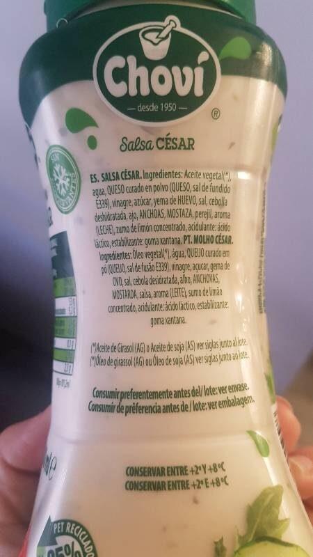 Salsa cesar - Ingrédients
