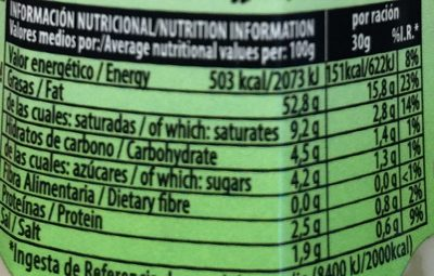 SALSA CESAR 250ML X6 CHOVI - Informació nutricional