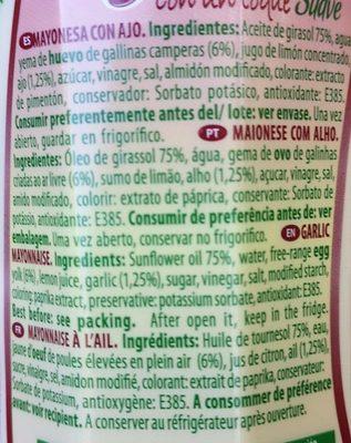 Mayonesa ajonesa - Ingredients - fr