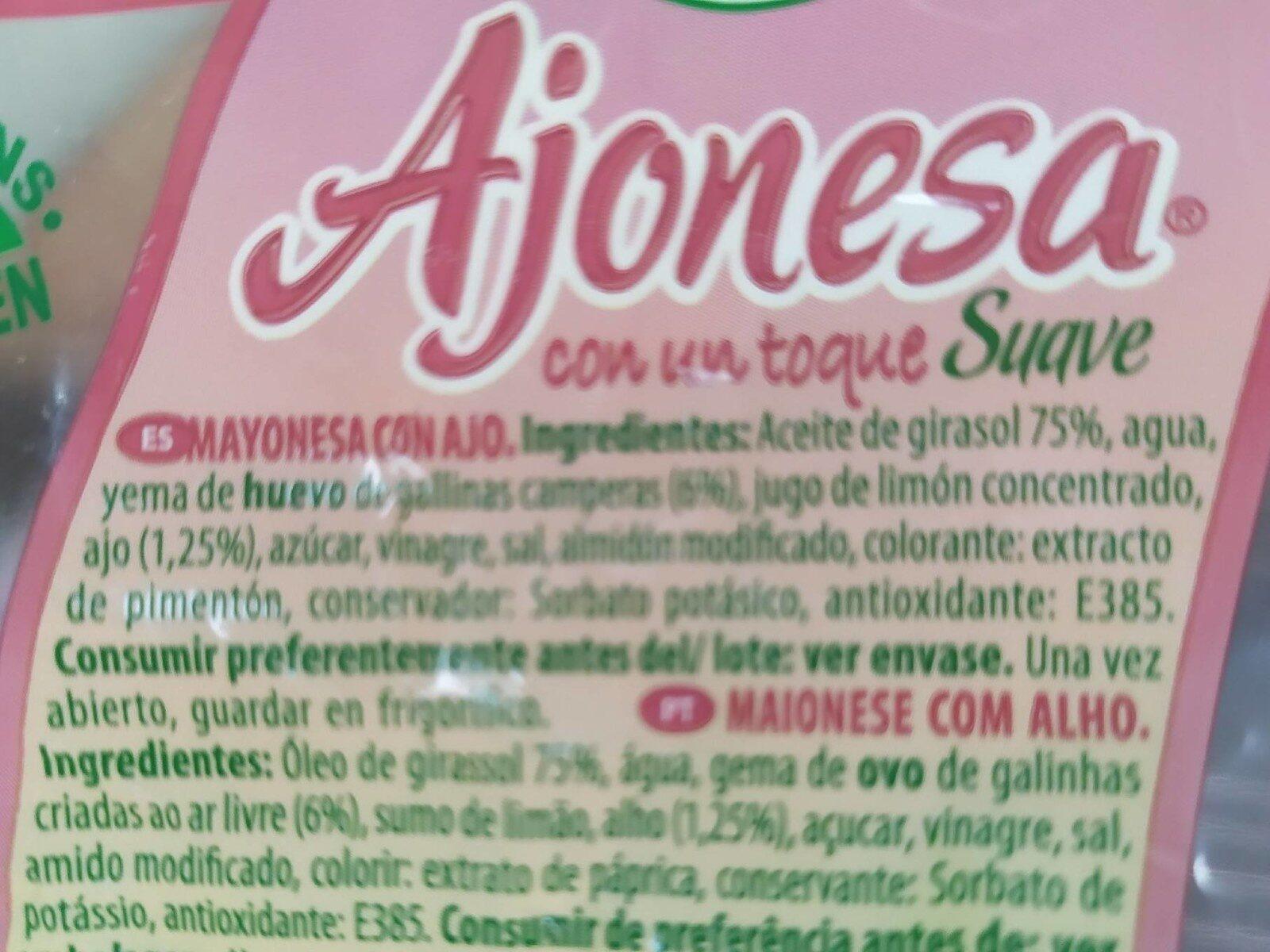 Mayonesa ajonesa - Nutrition facts - fr