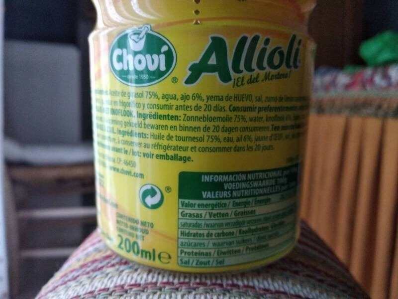 Allioli Chovi - Ingredients