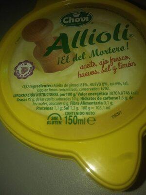 Allioli - Ingredients