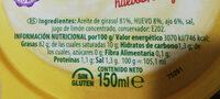 Allioli - Informació nutricional