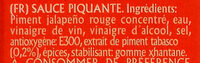 Salsa pimienta tabasco - Ingrédients - fr