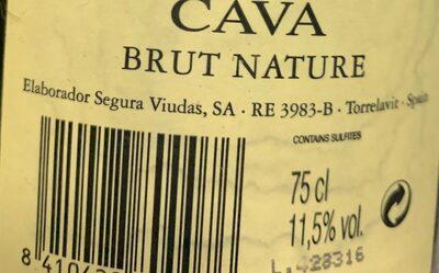Cava - Informació nutricional - es