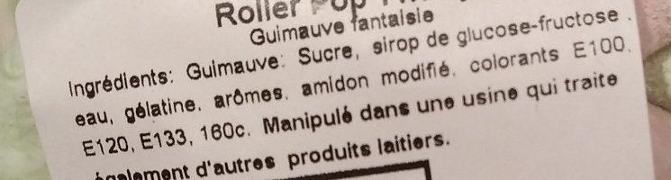 Roller Pop Twisty - Ingrediënten - fr