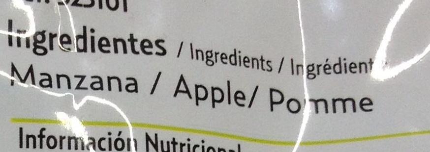 Pocket fruits - Pomme - Ingrédients - fr