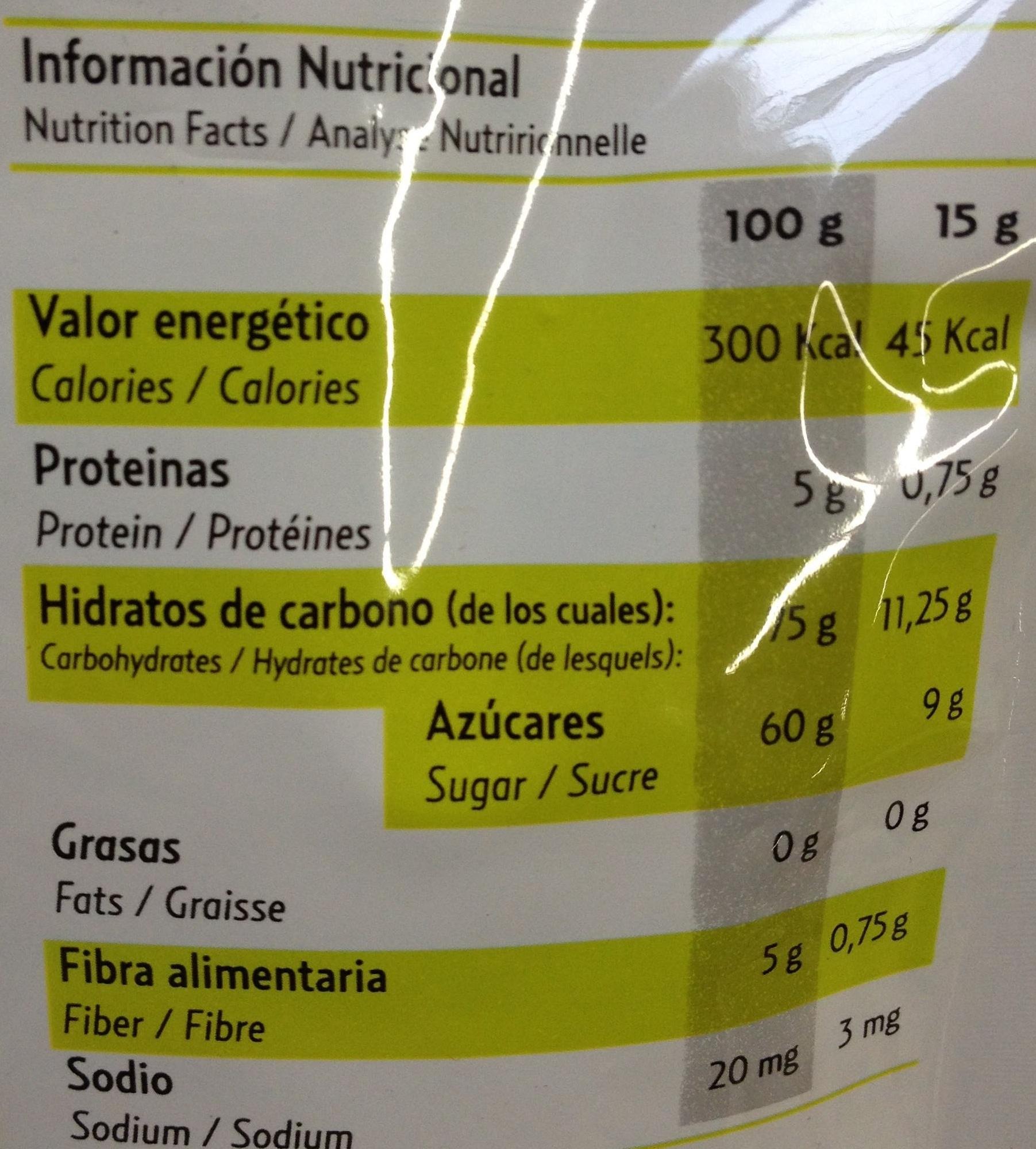 Pocket fruits - Pomme - Informations nutritionnelles - fr