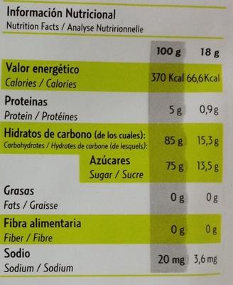 Pocket fruits - Informations nutritionnelles