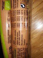 Salchichas frankfurt cocidas y ahumadas de cerdo - Informació nutricional - es