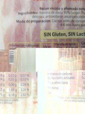 Bacon - Información nutricional - es
