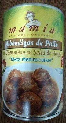 Albóndigas de Pollo con Champiñón en Salsa de Hongos - Producto - es