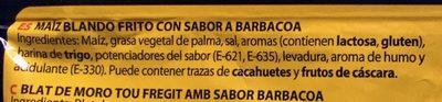 Maíz blando sabor barbacoa - Ingrediënten - es
