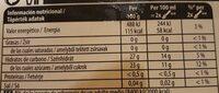 Los sorbetes LIMON - Nutrition facts - es