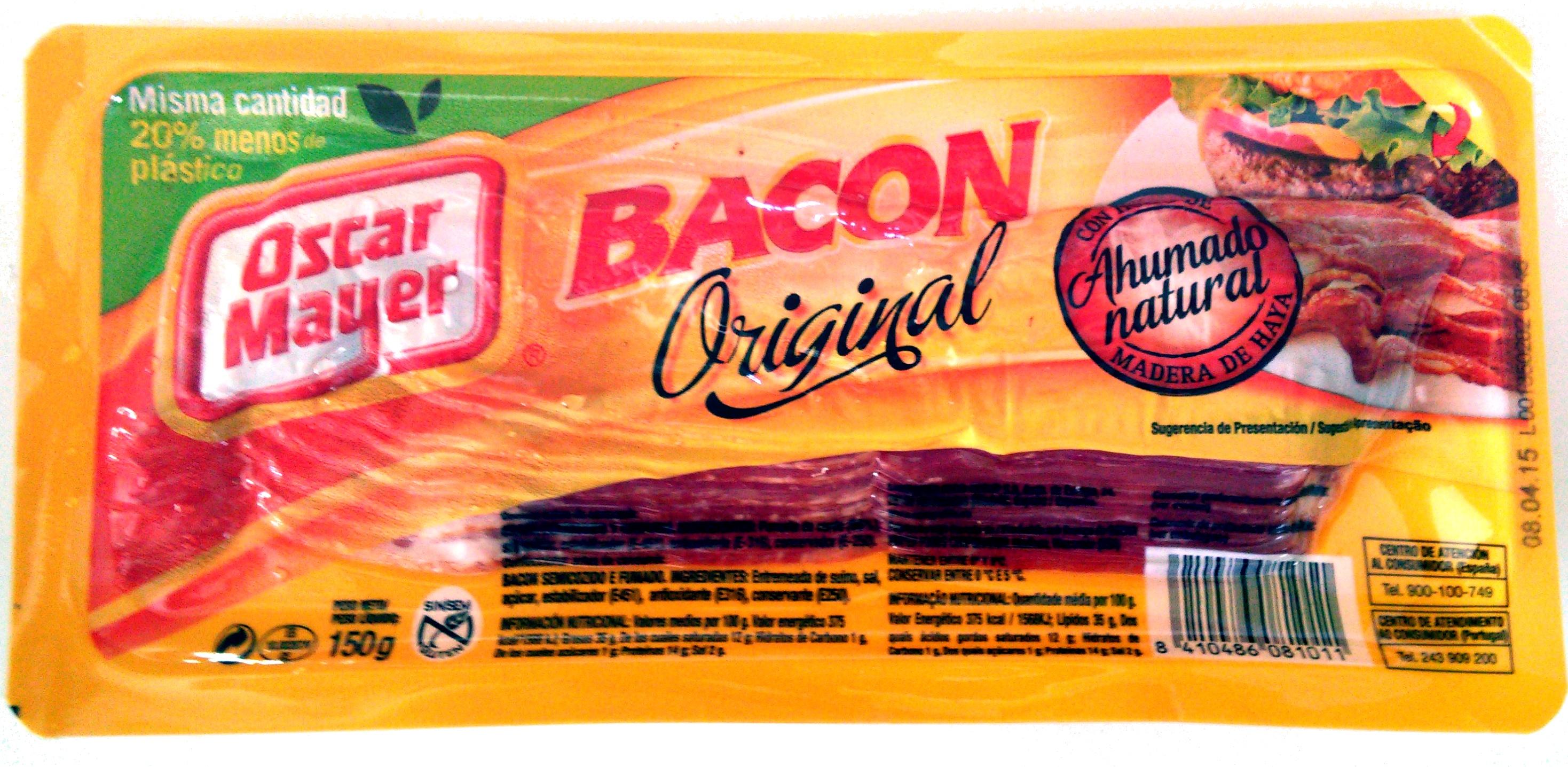 Bacon curado ahumado natural lonchas sin gluten - Producto - es