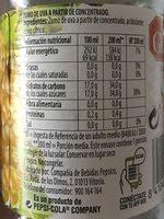 Zumo de uva - Nutrition facts - fr
