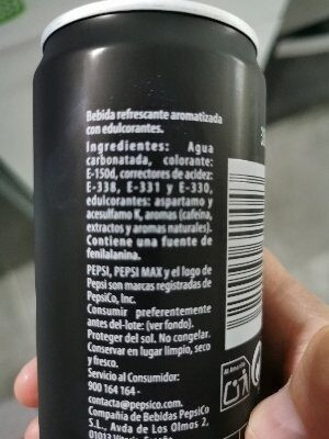 Pepsi Max - Ingredients