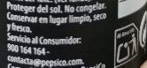 Pepsi Max - Recycling instructions and/or packaging information